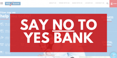 SAY NO TO YES BANK
