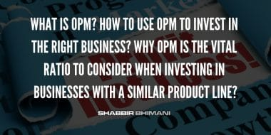 What is OPM – How It Is The Most Vital Ratio To Evaluate a Business?