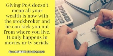 Is It Ok To Give PoA (Power of Attorney) To Stock Brokers?