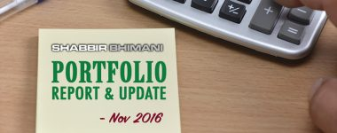 My Monthly Portfolio Report  – November 2016